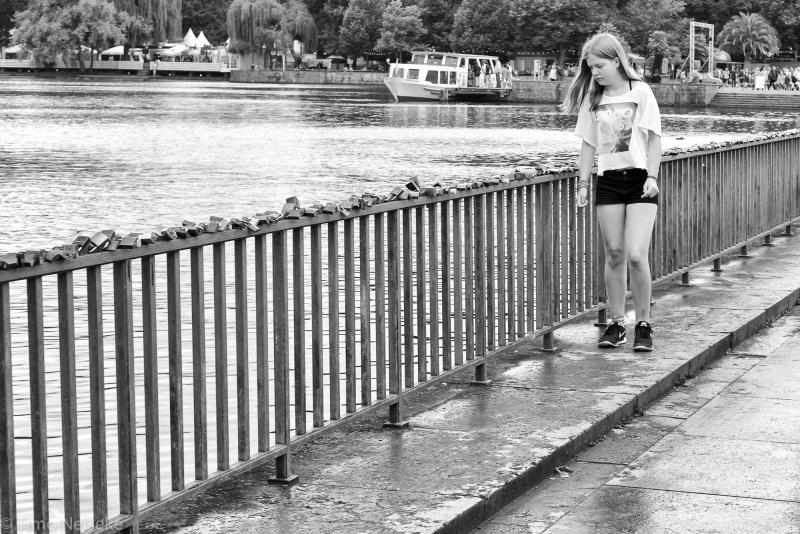 Strolling alone